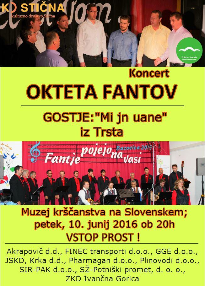 Koncert Okteta fantov z gosti iz Trsta